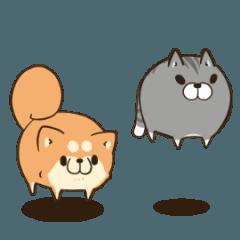 【人気スタンプ特集】ボンレス犬とボンレス猫 む~ぶ スタンプを実際にゲットして、トークで遊んでみた。