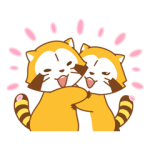 【半額セール】ラスカル&リリィ☆ラブラブカップル スタンプ(2017年12月5日AM10:59まで)