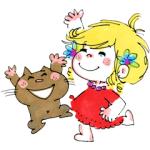 【日替半額セール】水森亜土2 HappyGirls! スタンプ(2017年12月06日分)