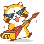 【半額セール】ROCK♪ラスカル アニメスタンプ(2017年12月5日AM10:59まで)