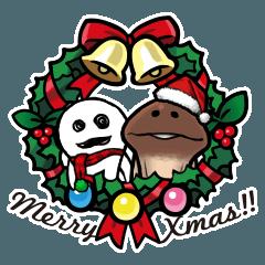【人気スタンプ特集】なめこのクリスマス&お正月 スタンプを実際にゲットして、トークで遊んでみた。