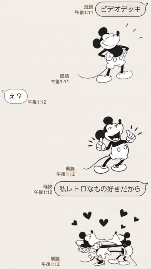 【人気スタンプ特集】ミッキーマウス(モノクロ) スタンプを実際にゲットして、トークで遊んでみた。 (4)