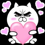 【人気スタンプ特集】目ヂカラ☆にゃんこ12【キモチを伝える】 スタンプを実際にゲットして、トークで遊んでみた。