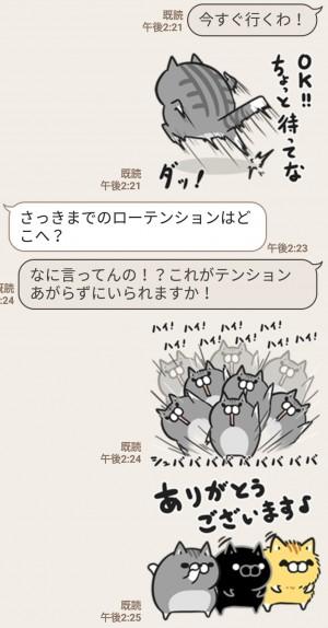 【人気スタンプ特集】ボンレス猫 Vol.6 スタンプを実際にゲットして、トークで遊んでみた。 (5)