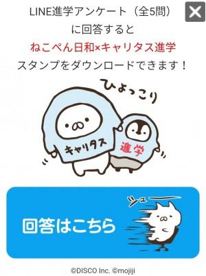【限定無料スタンプ】ねこぺん日和×キャリタス進学 スタンプを実際にゲットして、トークで遊んでみた。 (2)