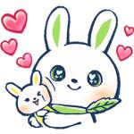 【LINE無料スタンプ速報】ロクシタン×新・うさタンヴァーベナver スタンプ(2018年05月07日まで)