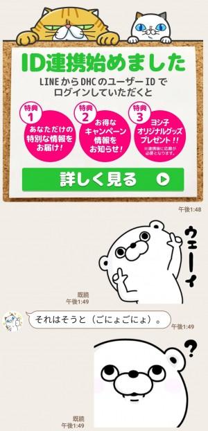 【限定無料スタンプ】タマ川 ヨシ子(猫)第14弾×ゆるくま  スタンプを実際にゲットして、トークで遊んでみた。 (4)