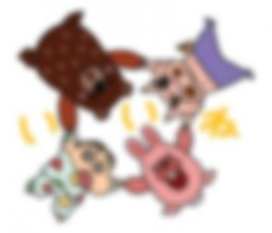 【LINE無料スタンプ予報】ほのぼのタウンにハチャメチャ幼稚園児襲来! (4)