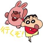 【LINE無料スタンプ速報:隠し】ポコパンタウン×クレヨンしんちゃん スタンプ(2018年07月03日まで)