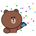 【LINE無料スタンプ速報:隠し】動くブラウン&コニー&サリー スペシャル スタンプ