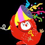 【隠し無料スタンプ】フクロウのヨヨキー3 by代ゼミ スタンプを実際にゲットして、トークで遊んでみた。