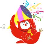 【LINE無料スタンプ速報:隠し】フクロウのヨヨキー3 by代ゼミ スタンプ(2018年10月08日まで)