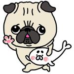 【LINE無料スタンプ速報】パグちゃん×コポたん スタンプ(2018年07月30日まで)