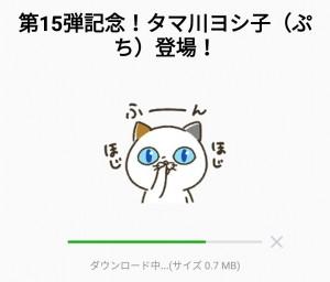 【限定無料スタンプ】第15弾記念!タマ川ヨシ子(ぷち)登場! スタンプを実際にゲットして、トークで遊んでみた。 (2)