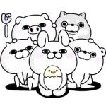 【LINE無料スタンプ速報】うさぎ&くま100%と仲間たち スタンプ(2018年10月17日まで)