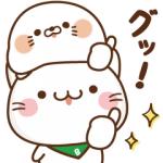 【LINE無料スタンプ速報:隠し】毒舌あざらし×べるーにゃ スタンプ(2018年11月05日まで)