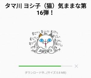 【限定無料スタンプ】タマ川 ヨシ子(猫)気ままな第16弾! スタンプを実際にゲットして、トークで遊んでみた。 (2)