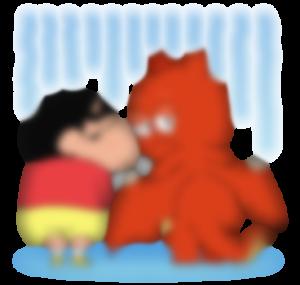 【LINE無料スタンプ予報】幼稚園児とドラゴンの奇妙なコンビ☆ (4)