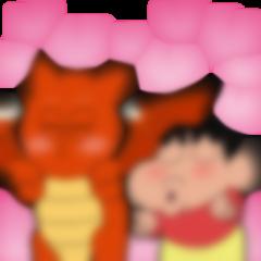【LINE無料スタンプ予報】幼稚園児とドラゴンの奇妙なコンビ☆ (1)