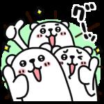 【限定無料スタンプ】ぷるくまさん☆即レスにグーッ スタンプを実際にゲットして、トークで遊んでみた。