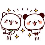 【LINE無料スタンプ速報:隠し】気持ち色々パンダ×べるーにゃ スタンプ(2019年03月18日まで)