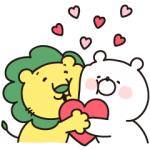 【LINE無料スタンプ速報:隠し】ガーリーくまさん×ライオンちゃん スタンプ(2019年03月25日まで)