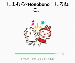 【限定無料スタンプ】しまむら×Honobono「しろねこ」 スタンプを実際にゲットして、トークで遊んでみた。 (2)