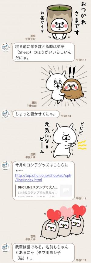 【限定無料スタンプ】令和初!タマ川ヨシ子(猫)第18弾 スタンプを実際にゲットして、トークで遊んでみた。 (3)