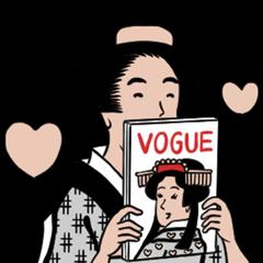 【隠し無料スタンプ】ヴォーグと山田全自動の浮世絵スタンプを実際にゲットして、トークで遊んでみた。