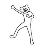 【LINE無料スタンプ速報】選べるニュース×けたたましく動くクマ スタンプ(2019年07月31日まで)