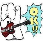 【LINE無料スタンプ速報】うさロック×LINEスコア スタンプ(2019年10月16日まで)