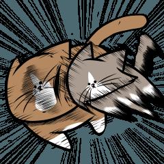 【人気スタンプ特集】鴻池剛と猫のぽんた ニャアアアン!2 スタンプ、まとめ