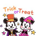 【LINE無料スタンプ速報:隠し】ミッキー&フレンズ(らくがきハロウィン) スタンプ