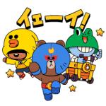 【LINE無料スタンプ速報:隠し】ブロスタ×LINE FRIENDS スタンプ(2020年01月01日まで)
