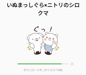 【限定無料スタンプ】いぬまっしぐら×ニトリのシロクマ スタンプのダウンロード方法とゲットしたあとの使いどころ (2)