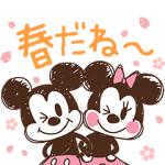 【LINE無料スタンプ速報:隠し】ミッキー&フレンズ(らくがきスプリング) スタンプ
