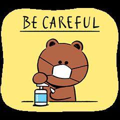 【限定無料スタンプ】BROWN 感染予防スタンプのダウンロード方法とゲットしたあとの使いどころ