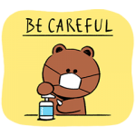 【LINE無料スタンプ速報】BROWN 感染予防スタンプ(2020年07月08日まで)