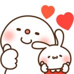 【LINE無料スタンプ速報:隠し】ミミちゃん×饅頭とだいふくコラボスタンプ(2020年07月15日まで)
