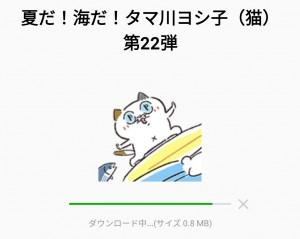 【限定無料スタンプ】夏だ!海だ!タマ川ヨシ子(猫)第22弾 スタンプのダウンロード方法とゲットしたあとの使いどころ (2)