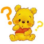 【LINE無料スタンプ速報:隠し】くまのプーさん(もこもこ) スタンプ(2020年12月27日まで)