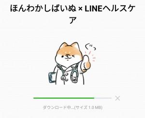 【限定無料スタンプ】ほんわかしばいぬ × LINEヘルスケア スタンプのダウンロード方法とゲットしたあとの使いどころ (2)