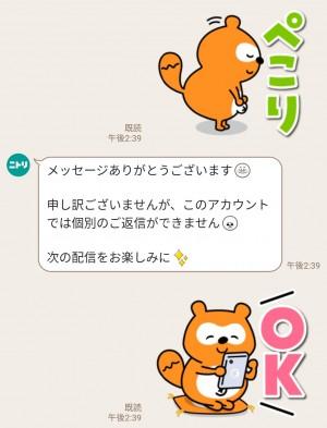 【限定無料スタンプ】目ヂカラ☆にゃんこ×ニトリのシロクマ スタンプのダウンロード方法とゲットしたあとの使いどころ (3)