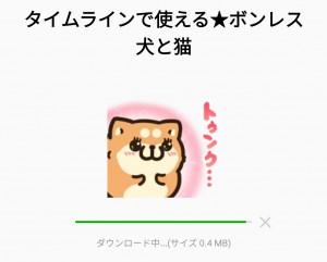 【限定無料スタンプ】タイムラインで使える★ボンレス犬と猫 スタンプのダウンロード方法とゲットしたあとの使いどころ (2)