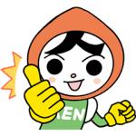 【LINE無料スタンプ速報:隠し】人KENまもる君・人KENあゆみちゃん スタンプ(2021年02月25日まで)
