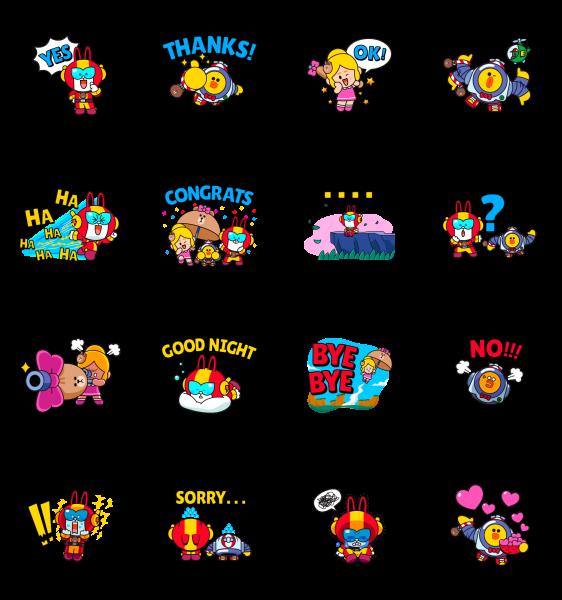 【隠し無料スタンプ】Brawl Stars × LINE FRIENDS Stickers スタンプのダウンロード方法とゲットしたあとの使いどころ